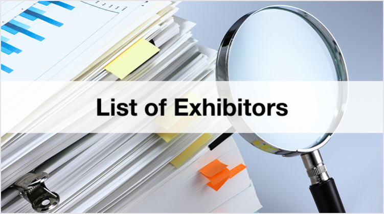 List of Exhibitors